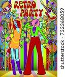 two girls on the dance floor....   Shutterstock .eps vector #732368059