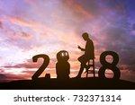 2018 years of robot assistant...   Shutterstock . vector #732371314