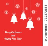 christmas bells background.... | Shutterstock .eps vector #732373855