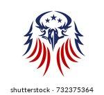american eagle patriotic logo | Shutterstock .eps vector #732375364