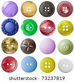 collection of various buttons... | Shutterstock . vector #73237819