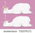 set of cute cartoon lama alpaca ...   Shutterstock .eps vector #732379171