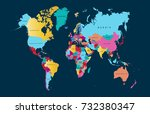 color world map   Shutterstock .eps vector #732380347