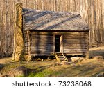 Ancient Wooden House In The...