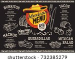 mexican menu for restaurant and ... | Shutterstock .eps vector #732385279