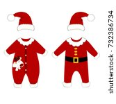 romper suit. christmas costumes ... | Shutterstock .eps vector #732386734