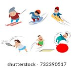 vector illustration of cartoon... | Shutterstock .eps vector #732390517