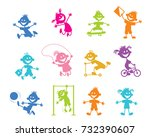 vector illustration of icons... | Shutterstock .eps vector #732390607