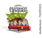 merry christmas illustration ... | Shutterstock .eps vector #732395221