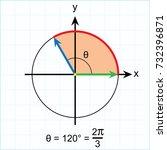 radian measure of some standard ... | Shutterstock .eps vector #732396871