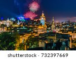 fireworks on the city of... | Shutterstock . vector #732397669