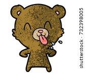 rude cartoon bear | Shutterstock .eps vector #732398005