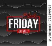 abstract vector black friday...   Shutterstock .eps vector #732399919