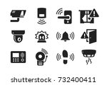 home security sensors and... | Shutterstock .eps vector #732400411