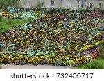 shanghai  china   july 05  ... | Shutterstock . vector #732400717