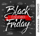 abstract vector black friday... | Shutterstock .eps vector #732401425