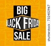abstract vector black friday... | Shutterstock .eps vector #732402967