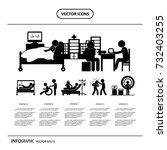 vector character cartoon doctor ... | Shutterstock .eps vector #732403255