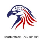 american eagle patriotic logo   Shutterstock .eps vector #732404404