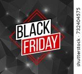 abstract vector black friday...   Shutterstock .eps vector #732404575