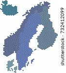 circle shape nordic counties... | Shutterstock .eps vector #732412099