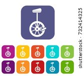 unicycle icons set ... | Shutterstock . vector #732414325