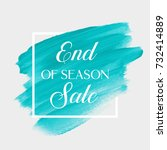 end of season sale sign over... | Shutterstock .eps vector #732414889