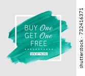 buy 1 get 1 free sale text over ... | Shutterstock .eps vector #732416371