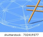 the background image drawing... | Shutterstock . vector #732419377