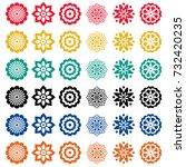 flowers icons set vector | Shutterstock .eps vector #732420235
