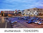 Elevated View Of Car Park In...