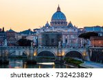vatican city. st peter's... | Shutterstock . vector #732423829