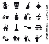 16 vector icon set   cleanser ... | Shutterstock .eps vector #732424135