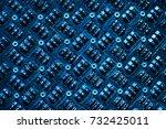 password text and binary code...   Shutterstock . vector #732425011