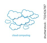 cloud computing or social...   Shutterstock .eps vector #732426787