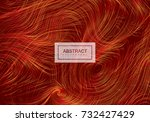 abstract artistic red... | Shutterstock .eps vector #732427429