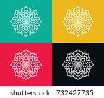 flowers icons vector | Shutterstock .eps vector #732427735