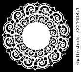 lace round paper doily  lacy... | Shutterstock .eps vector #732440851