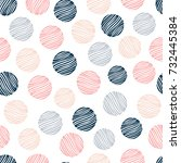 abstract seamless pattern with... | Shutterstock .eps vector #732445384