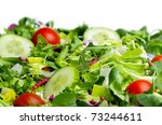 salad  on white background | Shutterstock . vector #73244611