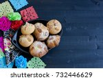 mexican celebration  bread of... | Shutterstock . vector #732446629