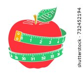 diet icon | Shutterstock .eps vector #732452194