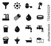 16 vector icon set   funnel ...   Shutterstock .eps vector #732452329