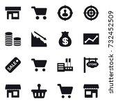 16 vector icon set   shop  cart ... | Shutterstock .eps vector #732452509