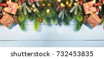 christmas border | Shutterstock . vector #732453835