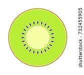 kiwi icon   Shutterstock .eps vector #732455905