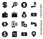 16 vector icon set   dollar ... | Shutterstock .eps vector #732457387