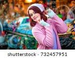 close up portrait of a... | Shutterstock . vector #732457951