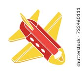 airplane flat icon | Shutterstock .eps vector #732460111