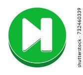 next control button flat icon | Shutterstock .eps vector #732460339